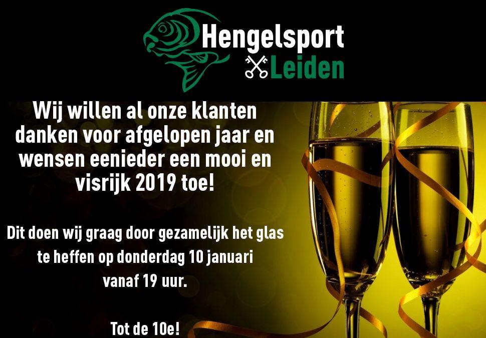 Nieuwjaarsborrel bij Hengelsport Leiden